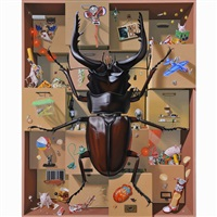 drawer of a stag beetle by kama takumi