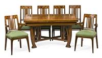 mesa de comedor y juego de cuatro sillas y dos sillones (7 works) by gaspar homar