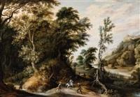 landscape with a robbery scene by alexander keirincx