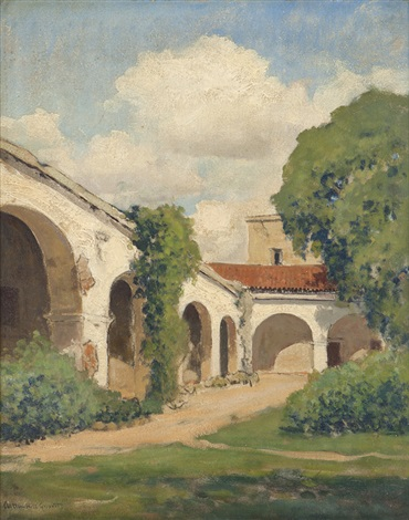 california mission landscape by arthur hill gilbert