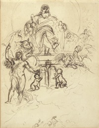 the judgement of solomon (study) by benjamin robert haydon