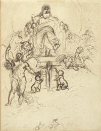 the judgement of solomon (study) by benjamin robert haydon