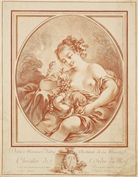 erigone und amor. erotische szene by gilles-antoine demarteau