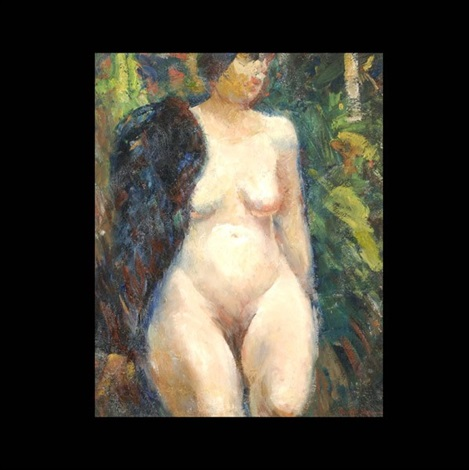 nude female by george benjamin luks