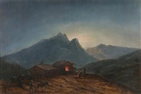 mountain cabin by theodore emile achille