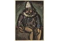 le vieux clown from cirque by georges rouault