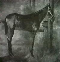 frankfurt, pferd im stall by wilhelm altheim