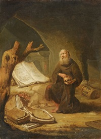 saint jerome in prayer by jacob van spreeuwen