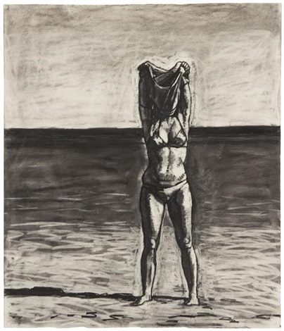 untitled girl in bikini by graham nickson