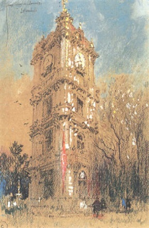 the great clock tower, dolma-bagtche by george wharton edwards