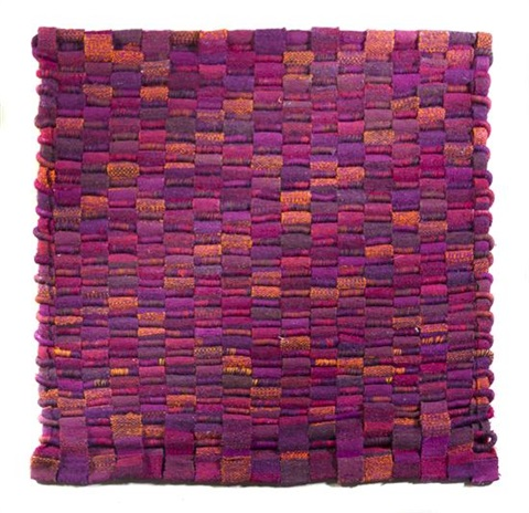 a woven wool and horsehair textile olga de amaral columbian b 1932