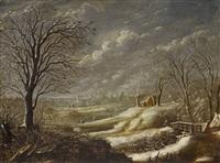 winter landscape by daniel van heil