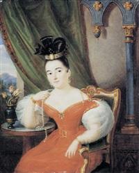 ritratto di donna con filo di perle by giuseppe patania