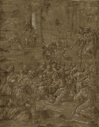 the adoration of the shepherds by nicolo dell' abbate