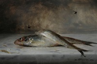 fish still life by louis marie de schryver
