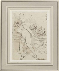 the amorous satyr by thomas rowlandson
