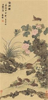 flower and bird by wang guxiang