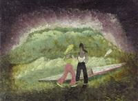 2 paddlerinnen by heinrich ehmsen