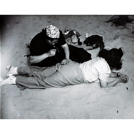 a stitch in time at coney island by weegee