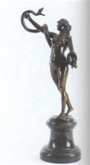 stående kvinde med slange by karl kowalczewsky