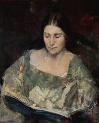 portrait of a woman (inger magnussen?) by herman albert gude vedel