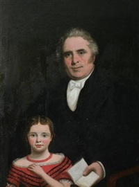 portrait of michael mulvaney and his grand daughter mary by james barry