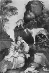 allegorie auf die melancholie by lucio massari