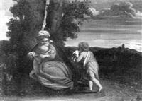 madonna mit kind und dem johannesknaben by lucio massari