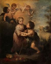 das jesuskind und der johannesknabe by bartolomé esteban murillo