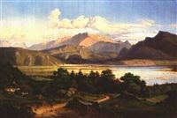 grosse landschaft am inn, mit blick auf kufstein und das kaisergebirge by georg heinrich crola