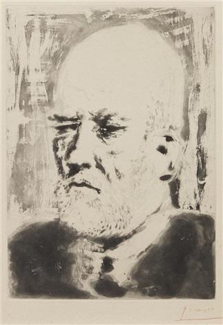 portrait of vollard ii from la suite vollard by pablo picasso