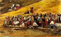 market scene by vyacheslav pavlovich bychkov