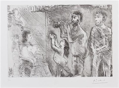 le divertissement by pablo picasso