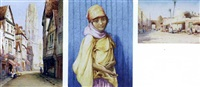 a street in rouen (+ 2 others, 1 larger; 3 works) by robert herdman smith