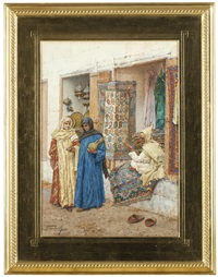 arabian street scene by giulio rosati