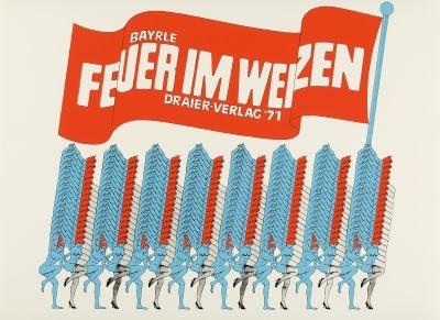 feuer im weizen portfolio of 8 wtitle by thomas bayrle