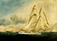 "the schooner ""mary b. dyer"" by william gay yorke"