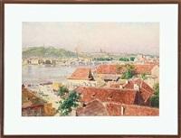heinrich tomec: view of sct. nicolas in praha by heinrich tomec