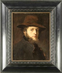 portrait des malers victor müller by wilhelm maria hubertus leibl