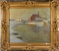 paysage impressionniste by frits thaulow