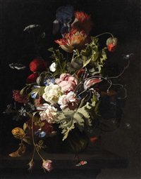 a floral still life by simon pietersz verelst