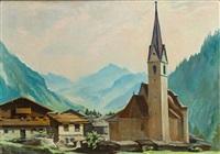 blick auf kals am großglockner mit der kirche st. georg by rudolf saal