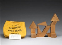 1 set gerowitz rare wood blocks, no. 3 by judy chicago