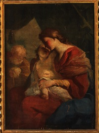 madonna mit kind und hl. josef by giuseppe antonio petrini