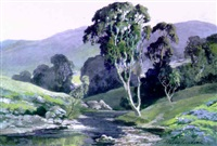 stream in the valley, southern california by albert f. jacobson