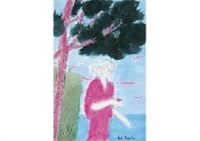 la dame en rose de golfe-juan by andré brasilier