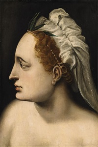 head of a woman by frans floris the elder