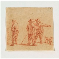 drei bauern mit hund by david teniers the younger