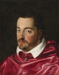portrait of ferdinando de medici as cardinal by scipione pulzone