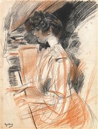 studie einer jungen frau am klavier by giovanni boldini